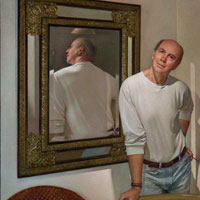 WADE REYNOLDS  Self Portrait- Double Mirror Image